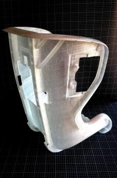 Wydrukowany fotelik samochodowy